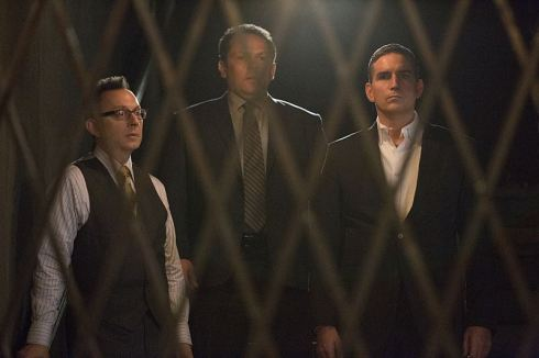 """Return 0"" -- The team must embark on one last suicide mission to prevent Samaritan from destroying The Machine and cementing its hold over mankind, on the series finale of PERSON OF INTEREST, Tuesday, June 21 (10:00 -- 11:00 PM ET/PT) on the CBS Television Network. Pictured L-R: Michael Emerson as Harold Finch, Kevin Chapman as Lionel Fusco, and Jim Caviezel as John Reese Photo: Giovanni Rufino/Warner Bros. Entertainment Inc. ©2016 WBEI. All rights reserved."
